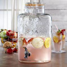 2.75 Gallon Style Setter Vineyard Fruit Glass Beverage Dispenser