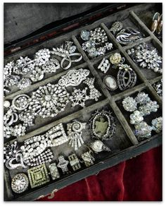 a fabulous collection of vintage rhinestone jewelry - one of 8 picks for this…