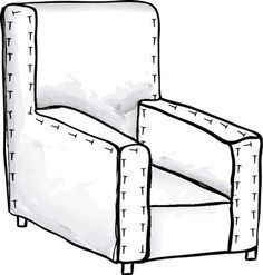 How to Make Slipcover Patterns - For Dummies, no really!!! Even to me they look doable