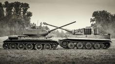 T-34-85 and Panzerkampfwagen VI Ausf. E
