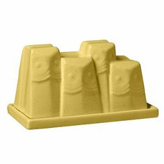 I love the Owl Collection Butter Dish Yellow on westelm.com