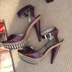 Fun and sexy heels Super fun and sexy heels! Worn a handful of times, little to no signs of wear. Size 6 Shoes Platforms