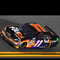 Denny Hamlin wins crash-marred race at Talladega Nascar Season, Brad Keselowski, Nascar Race Cars, Nascar Diecast, Checkered Flag, Dale Earnhardt Jr, Car And Driver, Race Day, Sports