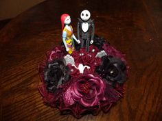 Nightmare Before Christmas Wedding Cake topper by CauldronOfCrafts