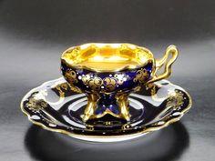 #本日のカップ #デミタス #デミタスカップ#demitasse #antiqueporcelain #antiquecupsaucer #demitassecollection #cupandsaucer #ernstwahliss