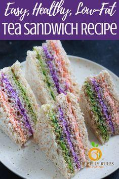 Vegetarian Teas, Finger Sandwiches, Tea Party Sandwiches Recipes, High Tea Sandwiches, Sandwiches For Parties, Homemade Yogurt Recipes, Afternoon Tea Recipes, Low Fat Yogurt, Food Presentation
