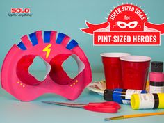 Bring their superhero alter ego to life with SOLO® products, crafts and imagination. #DIY