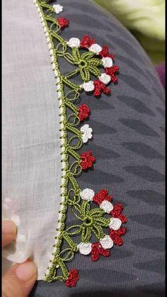 Creative Embroidery, Crochet Borders, Needle Lace, Indian Designer Wear, Crochet Designs, Tatting, Needlework, Crafts, Handmade