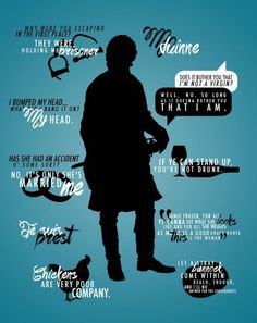 """Outlander quotes by Jamie. """"Aye, chickens are very poor company"""" is one of my favorites."""