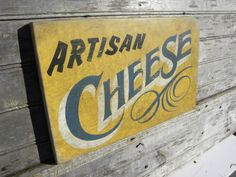 hand painted faux-retro  #  Cheese  shop sign by ZekesAntiqueSigns