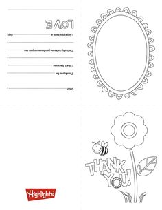 Help your child show appreciation for a gift with this free print & fold thank you card!