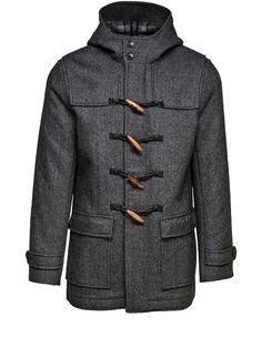Leon Duffle Coat, Black, large
