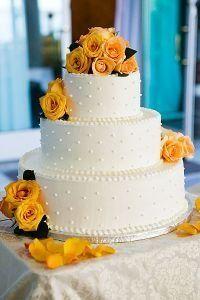 Wedding, Flowers, Cake, Roses, Elements in bloom