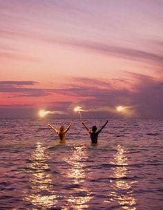 Twee sterretjes in het water