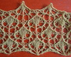 Rain: a free lace knitting stitch pattern by Naomi Parkhurst