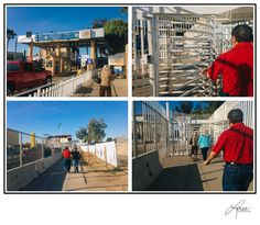 Crossing US/Mexican boarder into Los Algodones. Mexico