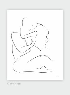 Large wall art for bedroom. - New Ideas Sexy Drawings, Couple Drawings, Art Drawings Sketches, Romantic Artwork, Minimal Art, Outline Art, Abstract Line Art, Bedroom Art, Large Wall Art