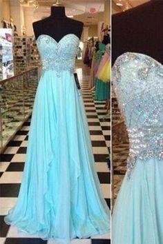 Chiffon Sweetheart Beading Prom Dresses BG49