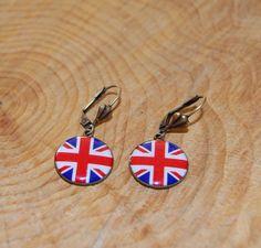 Ohrhänger .Union Jack..Flagge England.. Ohrringe von PauleWackeldackel auf DaWanda.com