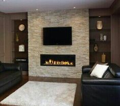 Built In Electric Fireplace Design Ideas, Pictures, Remodel and ...
