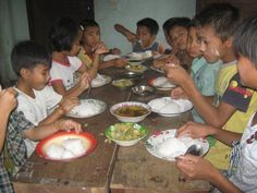 Children in Myanmar meat occasionally. Rice is the main food. The most simple food two meals in a day. We are not able to provide them other eatable, like snacks, sweets and drinks.