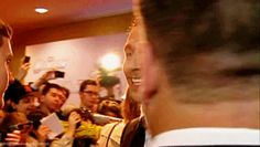 CAN I PRETEND THAT HE'S JUST SEEN ME COME DOWN THE STEPS IN A GORGEOUS DRESS?(gif) DIES