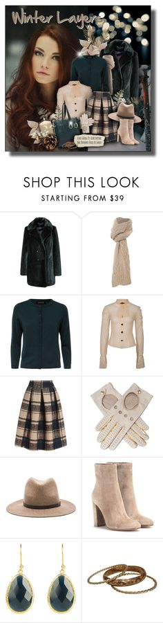 """Winter Layers"" by helenehrenhofer ❤ liked on Polyvore featuring Racing Green, UGG Australia, Jaeger, rag & bone, Trilogy, Gianvito Rossi and fauxfur"