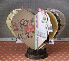 Heart Shaped Scrap Book