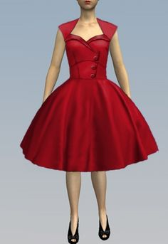 1950s Side Button Dress-  by Amber  Middaugh 2015