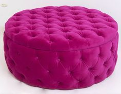 Tufted Ottoman Round Ottoman Coffee Table Souffle by BeSofia