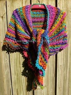 Karin aan de haak! Crescent Shawl - Crochet.