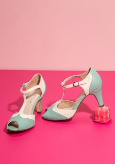 Going to Gait Lengths Heel in Seaglass, #ModCloth