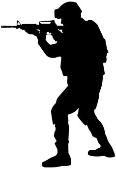 Set Of Soldiers Silhouette Royalty Free Cliparts Vectors And Soldier Silhouette, Silhouette Png, Military Drawings, Military Tattoos, Bugs Bunny Drawing, Imagenes Free, Indian Army Special Forces, Indian Army Wallpapers, Nerf Birthday Party