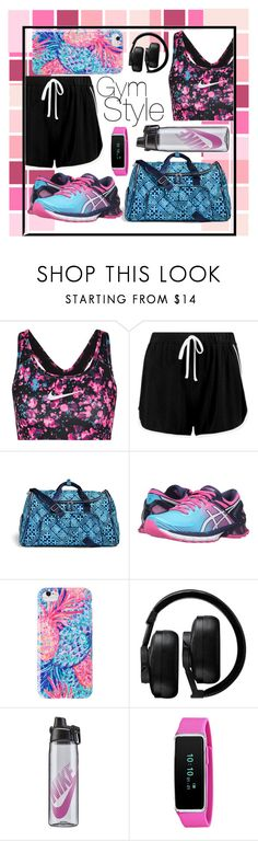 """Gym Style"" by kubricked ❤ liked on Polyvore featuring NIKE, Boohoo, Vera Bradley, Asics, Lilly Pulitzer and Master & Dynamic"