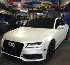 Matte White A7 Audi