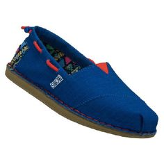 Skechers Bobs Chill- Global Wel Shoes (Royal Blue/Red) - Women's Shoes - 9.5 M