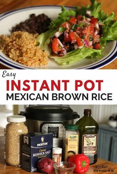 Easy Instant Pot Mexican Brown Rice This simple side dish is easy to make thanks to the Instant Pot. Take brown rice to the next level with this Instant Pot Mexican brown rice recipe. Taco Side Dishes, Side Dishes Easy, Side Dish Recipes, Mexican Dishes, Dinner Recipes, Dinner Ideas, Brown Rice Cooking, Brown Rice Recipes, Real Food Recipes