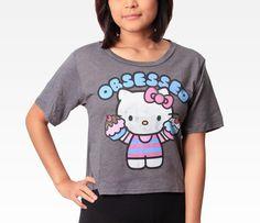 Hello Kitty Juniors Tee: Cupcake in Clothing Women's Tops at Sanrio