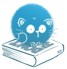 Puffball kitty DON'T PANIC, there are so many great books to read (and sleep on) Cat Reading, Angry Cat, Kawaii Chibi, Sleepy Cat, Pretty Cats, Cute Illustration, Cartoon Styles, Oeuvre D'art, I Love Cats
