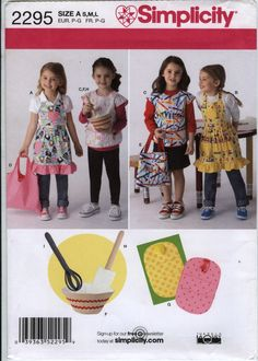 Simplicity 2295 Child's Aprons, Bags, Potholder and Felt Accessories