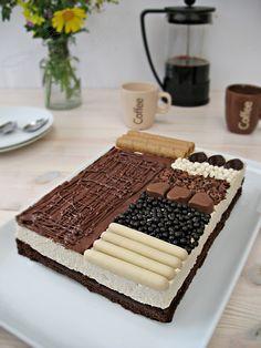 Brownie de café con mousse de nubes de azúcar y sabor a café :: Kávové brownie s pěnou z marshmallows s příchutí kávy