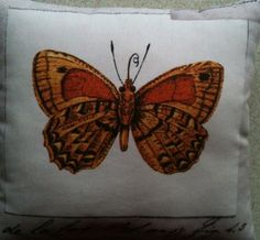 Butterfly Fabric Cushion - Handmade