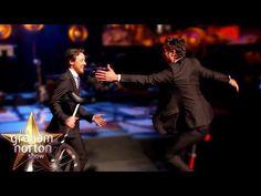 James McAvoy AND Mark Ruffalo Ride Unicycles Round the Studio! - The Graham Norton Show