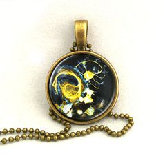 10% SALE Necklace Neuron Cell Brain Cell Medical Pendant Necklaces Gift. £7.69, via Etsy.
