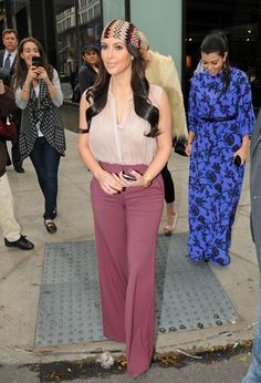 Kim Kardashian Head Scarf - Kim Kardashian Accessories Looks - StyleBistro