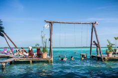 Water Swing | Laguna Bacalar