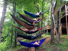 eno hammocks are available at Blue Ridge Mountain Outfitters in single or double and in an array of colors. relax...
