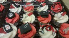54 Ideas For Cupcakes Ideas Graduation Grad Parties Fun Cupcakes, Wedding Cupcakes, Cupcake Cakes, Cupcake Ideas, Cupcake Toppers, Graduation Food, Graduation Cookies, Mechanic Cake, Gourmet Recipes