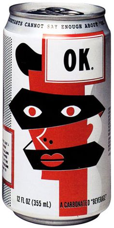 1993 OK Soda can design by Calef Brown                                                                                                                                                                                 More