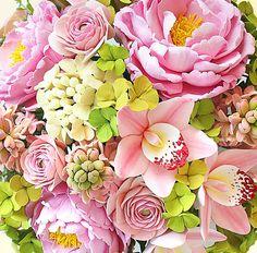 tutorial fondant flowers